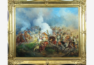 Эпизод из антинаполеоновской кампании 1813-1814 гг. Преследование австрийскими кирасирами французских артиллеристов